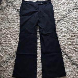 Loft Marisa wide leg trouser pant in navy blue